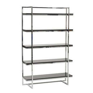 Gilbert Black Lacquer Five Shelf Unit