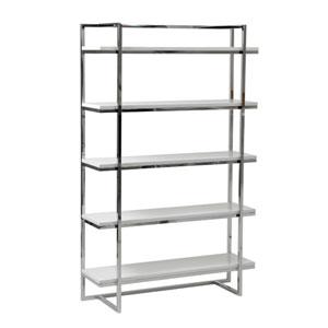 Gilbert White Lacquer Five Shelf Unit