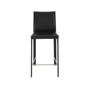 Hasina Black 26-Inch Counter Stool, Set of 2