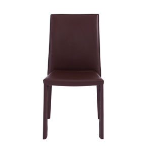Hasina Stacking Side Chair in Brown - Set of 4