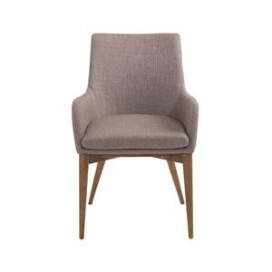 Calais Dark Gray Arm Chair, Set of 2