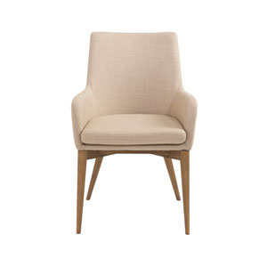 Calais Tan Arm Chair, Set of 2