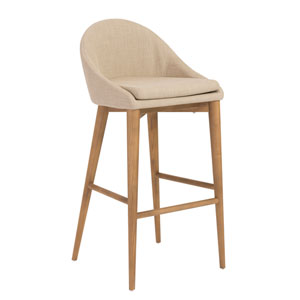 Baruch Tan Bar Stool