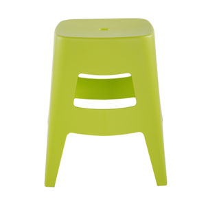 Coda Stacking Stool in Lime Green - Set of 4