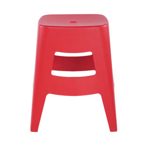 Coda Stacking Stool in Red - Set of 4