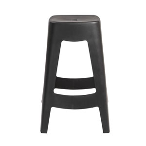 Coda Stackable Counter Stool in Black - Set of 4