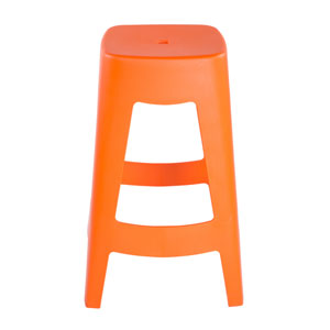 Coda Stackable Counter Stool in Orange - Set of 4