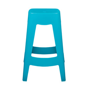 Coda Stackable Counter Stool in Teal - Set of 4