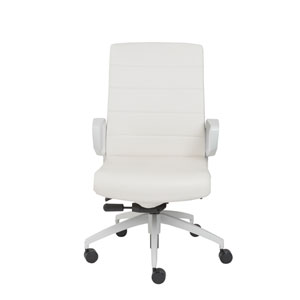 Gotan Powder Coated Low Back Office Chair in White with White Base