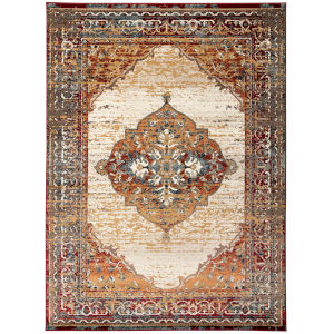 Allure Red Brown Rectangular: 7 Ft. 9 In. x 9 Ft. 9 In. Rug