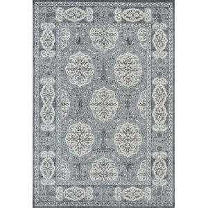 Alexandria Steel Blue Rectangle 7 Ft. 9 In. x 9 Ft. 9 In. Rug