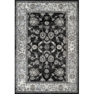 Alexandria Black Rectangle 5 Ft. 1 In. x 7 Ft. 6 In. Rug