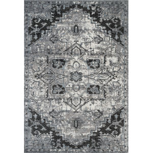 Alexandria Ivory Machine-Made Polypropylene Rectangle 7 Ft. 9 In. x 9 Ft. 9 In. Rug