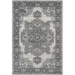 Alexandria Ivory Polypropylene Rectangle 7 Ft. 9 In. x 9 Ft. 9 In. Rug