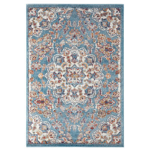 Alexandria Sea Blue Rectangle 8 Ft. 9 In. x 11 Ft. 9 In. Rug