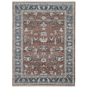 Arcadia Red Rectangle 9 Ft. 1 In. x 12 Ft. 9 In. Rug