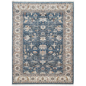Arcadia Blue Rectangle 9 Ft. 1 In. x 12 Ft. 9 In. Rug