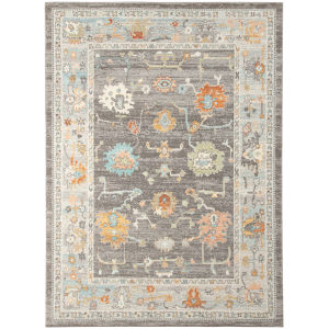 Bohemian Brown Rectangle 7 Ft. 9 In. x 9 Ft. 9 In. Rug