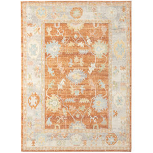 Bohemian Orange Rectangle 7 Ft. 9 In. x 9 Ft. 9 In. Rug
