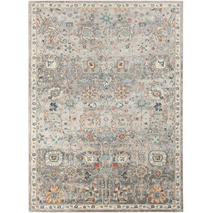 Bohemian Gray Rectangle 7 Ft. 9 In. x 9 Ft. 9 In. Rug