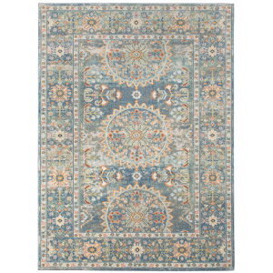 Bohemian Denim Blue Multi-Purpose Rectangle 5 Ft. 1 In. x 7 Ft. 6 In. Rug