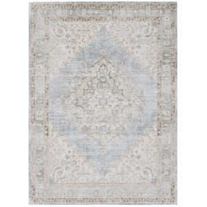Century Gray Rectangle 3 Ft. 11 In. x 5 Ft. 11 In. Rug