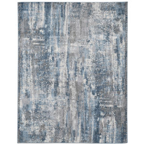 Cairo Blue Rectangle 7 Ft. 10 In. x 10 Ft. 10 In. Rug