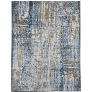 Cairo Blue Tan Polypropylene Rectangle 7 Ft. 10 In. x 10 Ft. 10 In. Rug