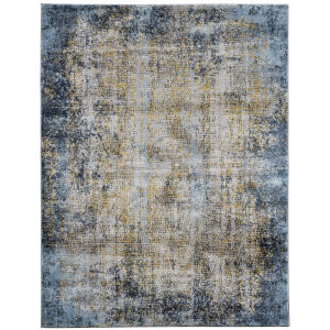 Cairo Gold Blue Gray Rectangular: 7 Ft. 10 In. x 10 Ft. 10 In. Rug