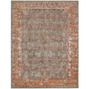 Eternal Sea Blue Rectangle 7 Ft. 6 In. x 9 Ft. 6 In. Rug