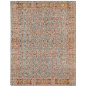 Eternal Teal Rectangle 7 Ft. 6 In. x 9 Ft. 6 In. Rug
