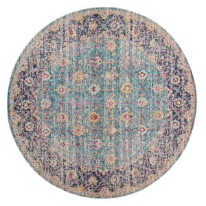 Eternal Turquoise Round 6 Ft. 7 In. x 6 Ft. 7 In. Rug