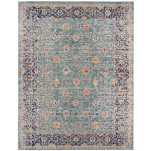 Eternal Turquoise Rectangle 9 Ft. 10 In. x 13 Ft. 10 In. Rug