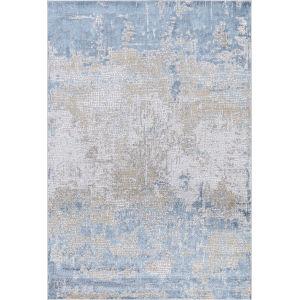 Hamilton Gold Light Blue Rectangular: 7 Ft. 6 In. x 9 Ft. 6 In. Rug