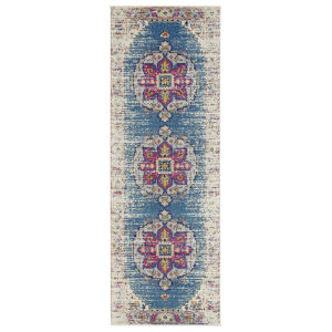 Manhattan Turquoise Pink Runner: 2 Ft. 6 In. x 7 Ft. 6 In. Rug