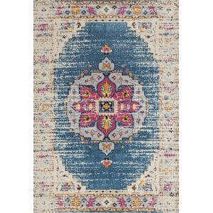 Manhattan Turquoise Pink Rectangular: 5 Ft. 3 In. x 7 Ft. 6 In. Rug