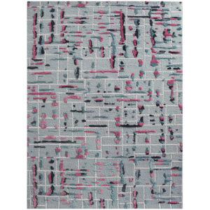 Perla Pink Rectangle 7 Ft. 6 In. x 9 Ft. 6 In. Rug