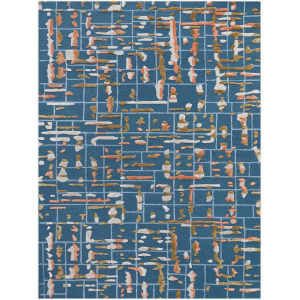Perla Blue Rectangle 7 Ft. 6 In. x 9 Ft. 6 In. Rug