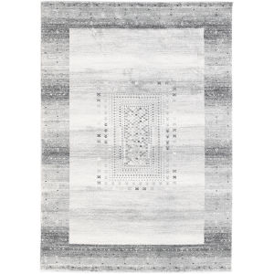 Sahara Gray Round 6 Ft. 7 In. x 6 Ft. 7 In. Rug