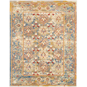 Sanya Yellow Blue Rectangular: 2 Ft. x 3 Ft. Rug
