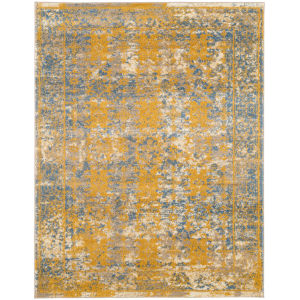 Sanya Gold Blue Rectangular: 7 Ft. 9 In. x 9 Ft. 9 In. Rug