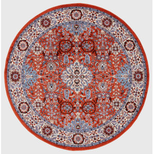 Sanya Red Round: 6 Ft. 7 In. x 6 Ft. 7 In. Rug