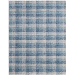 Tartan Blue Rectangular: 8 Ft. x 10 Ft. Rug