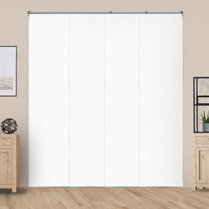 Performance White Room Darkening 80 In. W x 96 In. H Adjustable Sliding Panel