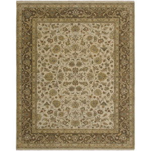 Antiquity Beige and Brown Rectangular: 2 Ft. x 3 Ft. Rug