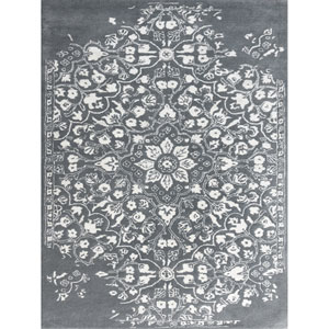 Artist Gray and White Rectangular: 2 Ft x 3 Ft Rug