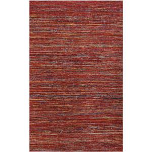 Banaras Design Red Rectangular: 2 Ft. x 3 Ft. Rug