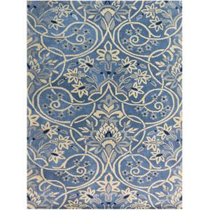 Bombay Denim Blue Rectangular: 2 Ft x 3 Ft Rug