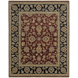 Luxor Red Rectangle: 6 Ft. x 9 Rug