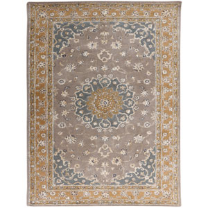 Eternity Gray and Gold Rectangular: 2 Ft x 3 Ft Rug